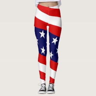 星及びバー:  米国の旗 レギンス