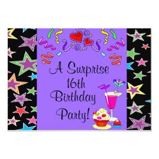 星及び置かれる吹流しのカップケーキのおもしろい カード