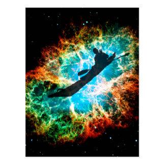 星団の急流カヤックを漕ぎます ポストカード