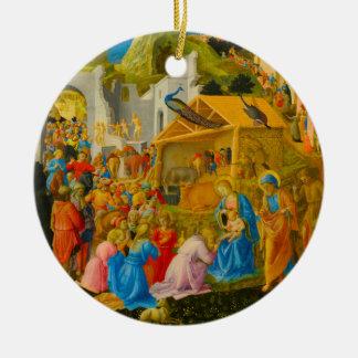 星学者の円形のクリスマスのオーナメントの崇敬 セラミックオーナメント