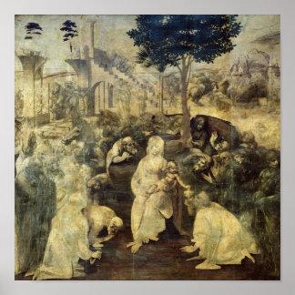 星学者の崇敬、1481-2年 ポスター