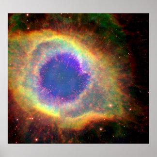 星座のアクエリアス死ぬ星の白色矮星 ポスター