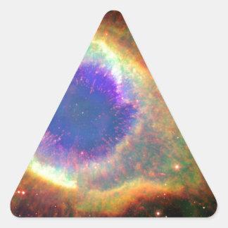 星座のアクエリアス死ぬ星の白色矮星 三角形シール