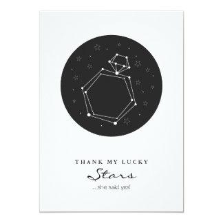 星座の婚約指輪の保存日付 12.7 X 17.8 インビテーションカード