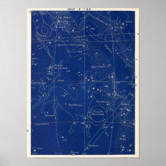 星座の射手座Capricornus及び多く ポスター