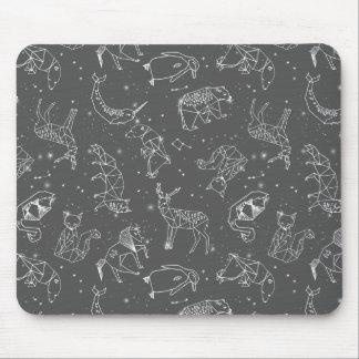 星座夜星の空の灰色/アンドリアLauren マウスパッド
