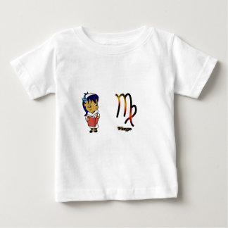 《星座》乙女座のチビ(小さくかわいく書いた感じ) ベビーTシャツ