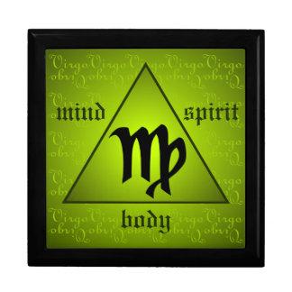 《星座》乙女座の占星術の心の体の精神の三角形の緑 ギフトボックス