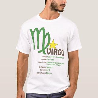 《星座》乙女座の特性のTシャツ Tシャツ