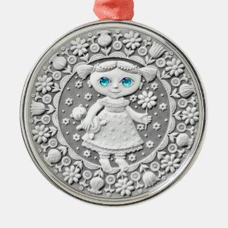 《星座》乙女座の硬貨の優れたオーナメント メタルオーナメント
