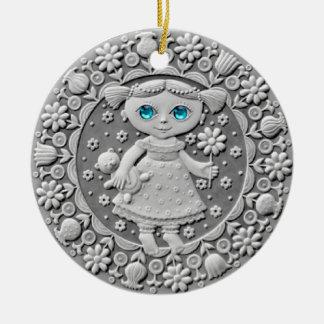 《星座》乙女座の硬貨の陶磁器のオーナメント セラミックオーナメント