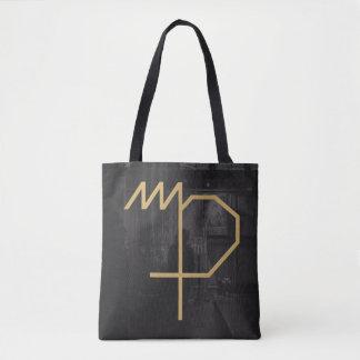 《星座》乙女座の(占星術の)十二宮図の印|のカスタムな背景 トートバッグ