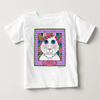 《星座》乙女座のZodicatの乳児のTシャツ ベビーTシャツ
