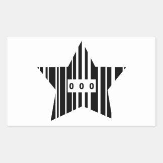 星形のバーコード 長方形シール