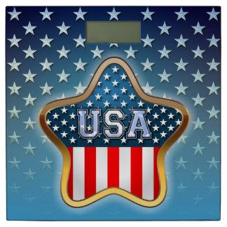 星形の米国旗 体重計