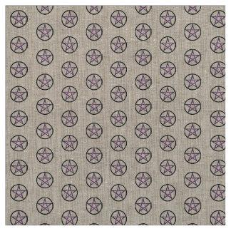星形五角形の祭壇の布材料 ファブリック