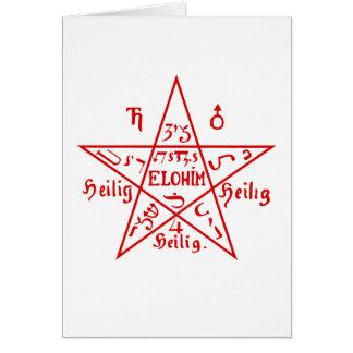 星形五角形 カード