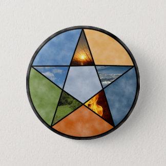 星形五角形 5.7CM 丸型バッジ