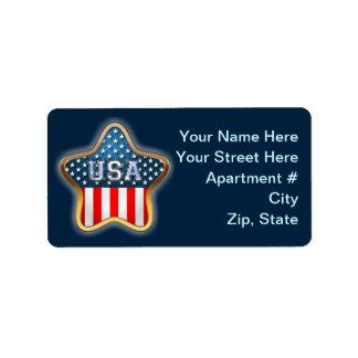 星形米国の旗 ラベル