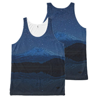 星明かりによる山SHASTA オールオーバープリントタンクトップ