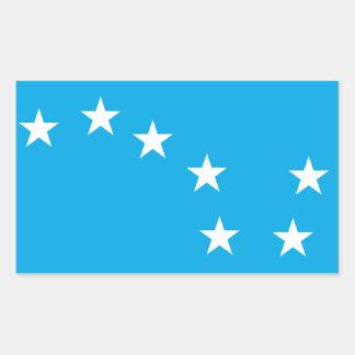 星明かりのすきのアイルランドの労働者の旗のステッカー 長方形シール