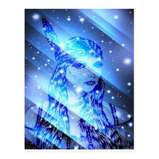 星明かりのインディアンmaiden.jpg ポストカード