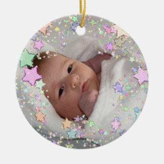 星明かりの写真の新生児の誕生の記念品 セラミックオーナメント