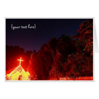 星明かりの夜の下のSmangus教会 カード