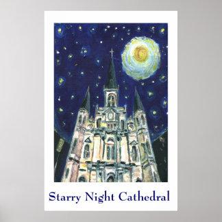 星明かりの夜カテドラル ポスター