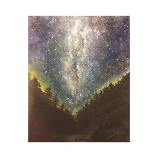 星明かりの夜キャンバスのプリント キャンバスプリント