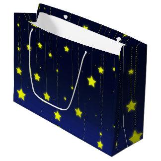 星明かりの夜ギフトバッグ ラージペーパーバッグ
