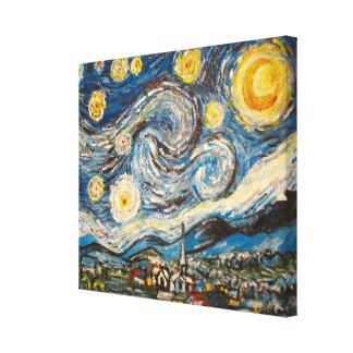 星明かりの夜ゴッホはキャンバスを塗り直します キャンバスプリント