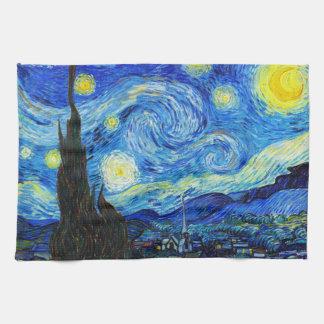 星明かりの夜フィンセント・ファン・ゴッホのクールな絵画 キッチンタオル