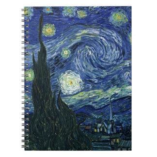星明かりの夜フィンセント・ファン・ゴッホのファインアートの絵画 ノートブック