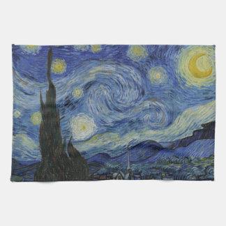 星明かりの夜フィンセント・ファン・ゴッホの絵画 キッチンタオル