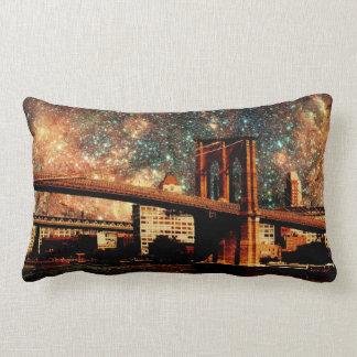 星明かりの夜ブルックリン橋の枕 ランバークッション
