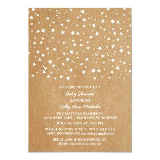 星明かりの夜ベビーシャワーの招待 カード