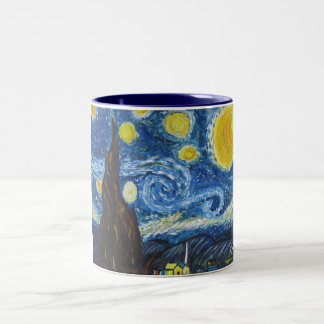 星明かりの夜大きいマグ ツートーンマグカップ