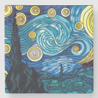 星明かりの夜大理石Coster ストーンコースター