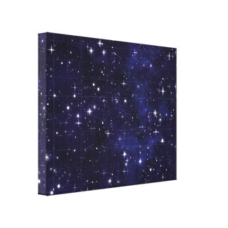 星明かりの夜空の格子 キャンバスプリント