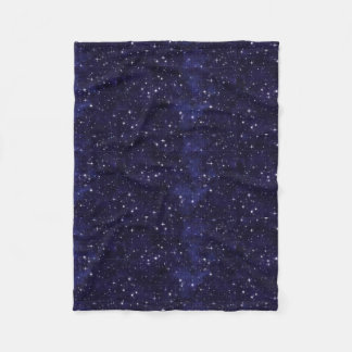 星明かりの夜空の格子 フリースブランケット