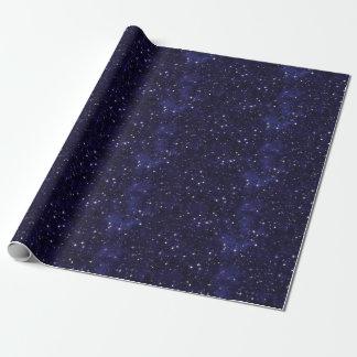 星明かりの夜空の格子 ラッピングペーパー