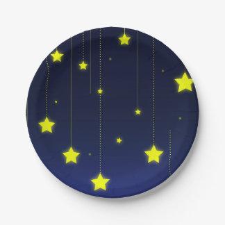 星明かりの夜紙皿 ペーパープレート
