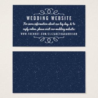 星明かりの夜結婚式のコレクション-ウェブサイト 名刺