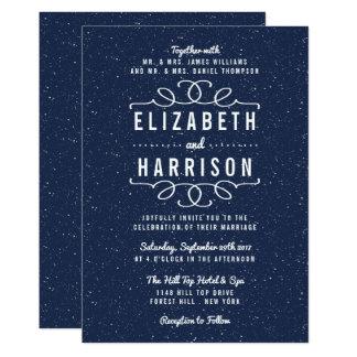 星明かりの夜結婚式のコレクション カード