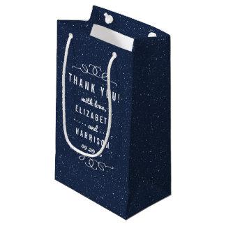 星明かりの夜結婚式のコレクション スモールペーパーバッグ