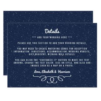 星明かりの夜結婚式のコレクション-詳細 カード