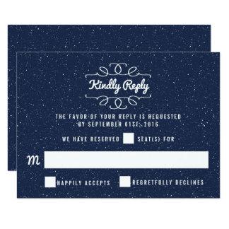 星明かりの夜結婚式のコレクション- RSVP カード