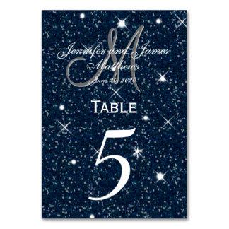 星明かりの夜結婚式のテーブル数カード カード