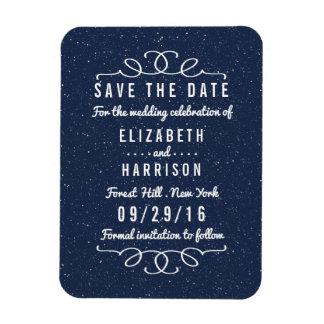 星明かりの夜結婚式の保存日付 ビニール磁石